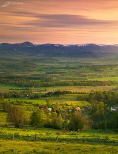 Zachód słońca z Gór Kaczawskich